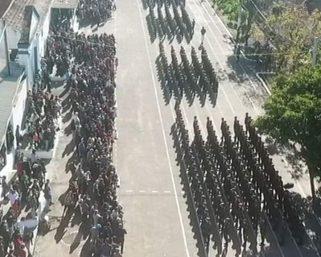 Serafinenses participam da solenidade de entrega da Boina Verde-Oliva em São Gabriel