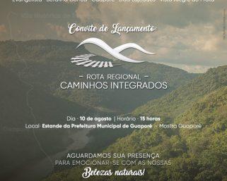 """""""Rota Regional – Caminhos Integrados"""" será lançada e busca destacar a região no cenário turístico"""
