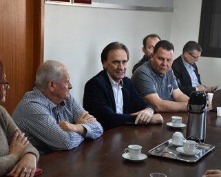 Secretário de Logística e Transporte Juvir Costella esteve em Serafina Corrêa