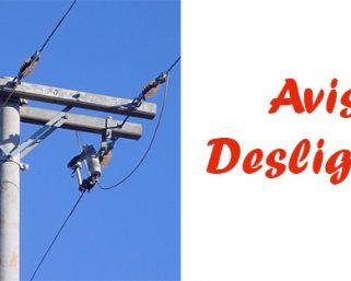 Aviso de desligamento para o dia 01 de Outubro
