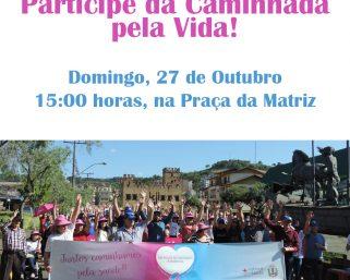 Caminhada Pela Vida acontece no próximo domingo