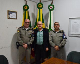 Prefeito em Exercício recebe visita do Comandante da 3º BPAT de Bento Gonçalves