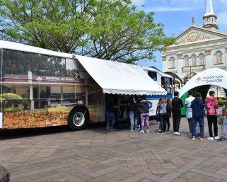 Ônibus do Hospital de Olhos está atendendo hoje em Serafina Corrêa
