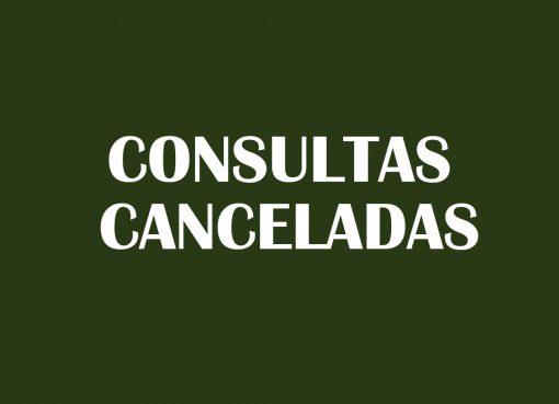 Consultas estão canceladas