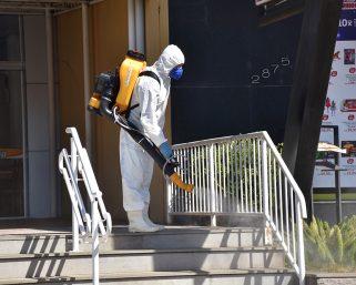 Sanitização está sendo realizada hoje em Serafina Corrêa para combater a pandemia
