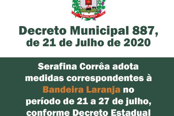 Serafina Corrêa adota medidas correspondentes à Bandeira Laranja