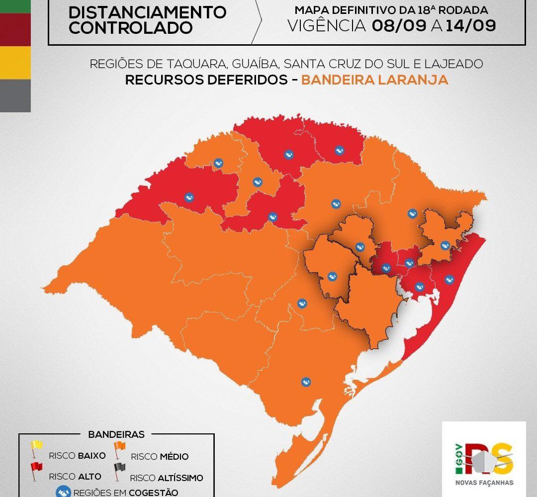 Serafina Corrêa permanece em bandeira laranja na 18ª rodada do Distanciamento Controlado