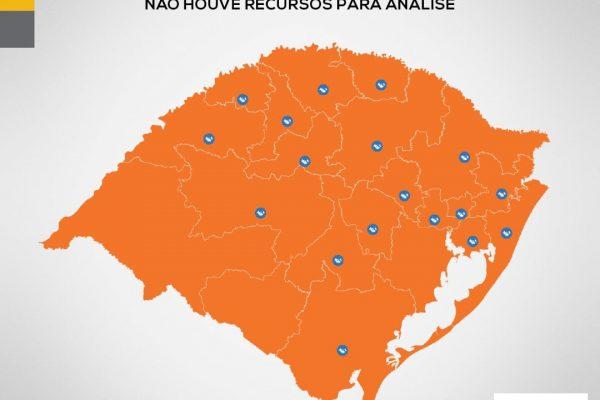 Todas as regiões do RS são classificadas em bandeira laranja