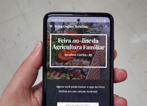 Feira on-line da Agricultura Familiar agora tem aplicativo