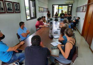Reunião administrativa para controle do fluxo dos Departamentos