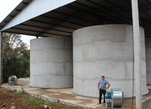 Cresce armazenagem de grãos nas propriedades em Serafina Corrêa
