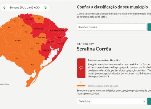 Serafina Corrêa permanece com restrições de Bandeira Laranja