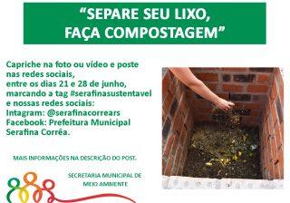 """Mês do Desafio Ambiental – Separe seu lixo, faça compostagem"""""""